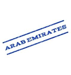 Arab Emirates Watermark Stamp vector image