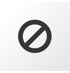 Ban icon symbol premium quality isolated vector