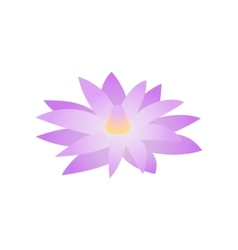 Blue lotus of egypt icon isometric 3d style vector