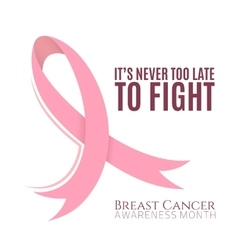 Breast cancer background with pink ribbon vector