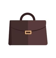 Briefcase in Flat Design vector image vector image