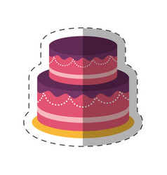 cake dessert party shadow vector image vector image
