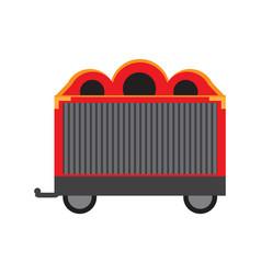 Circus wagon icon vector
