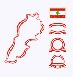 Colors of lebanon vector