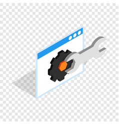 computer repair isometric icon vector image