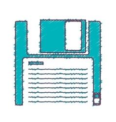 data diskette icon vector image
