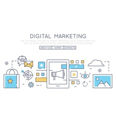 Digital marketing social media vector