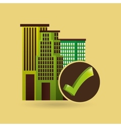 ecology concept with buildings city vector image