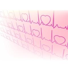 electrocardiogram wave vector image