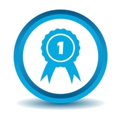 First place icon blue 3d vector