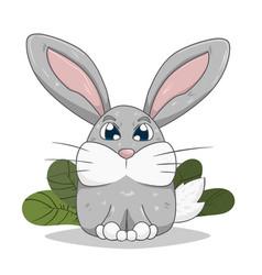 little rabbit on lawn vector image