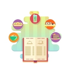 Menu of restaurant or cafe flat style vector image