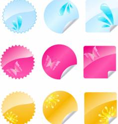 multicolored labels vector image