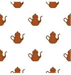 Oriental turkish kettle for tea pattern seamless vector