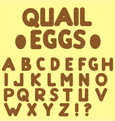 quail eggs letters vector image vector image