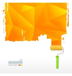 Roller brush and triangle background vector