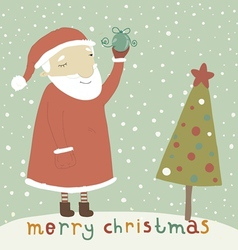 Santa Claus with Christmas toy vector image vector image