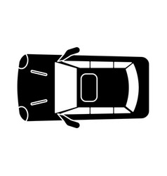 silhouette car parking top view vector image vector image