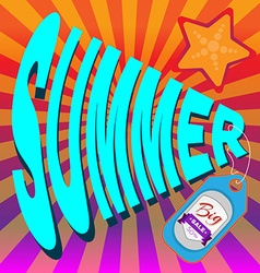 Summer Big Sale Banner vector image vector image