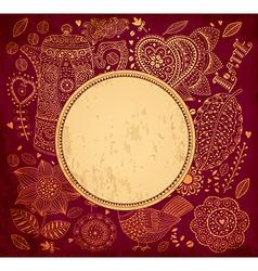 Vintage garden frame vector image
