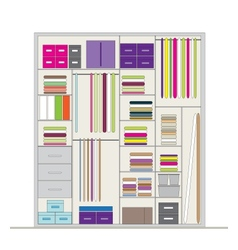 Wardrobe inside for your design vector image
