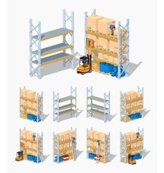 Warehouse shelves Empty and loaded vector image vector image