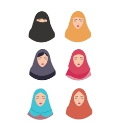 woman wear hijab veil islam tradition islamic vector image