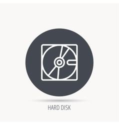 Harddisk icon hard drive storage sign vector