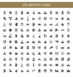 Collection industry icons vector