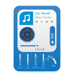 Music player 10 vector