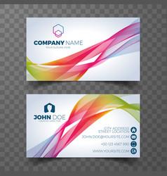 Modern business card design template vector