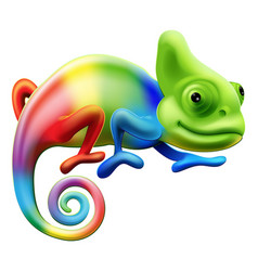 rainbow chameleon vector image