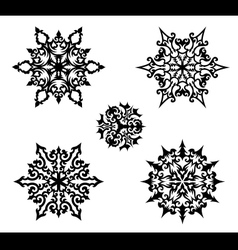 Decorative snowflakes vector