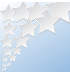 Abstract flying star background vector image