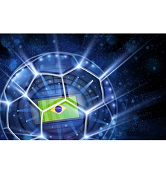 Football arena top view vector image