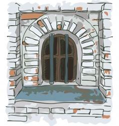 jail window vector image