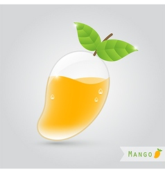 Mango fruit juice vector