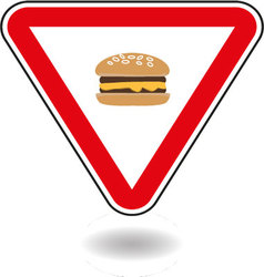 Sign cheeseburger vector