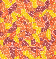 Autumn foliage in pastel colours seamless pattern vector