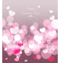 Happy valentines day celebration greeting card vector