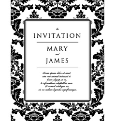Invitation to the wedding or announcements vector