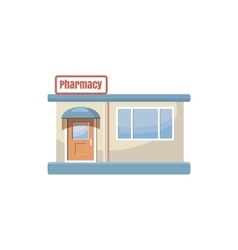 Pharmacy drugstore building icon cartoon style vector