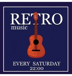 Retromusic poster template vector