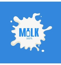 Bottle replacing letter milk product logo vector