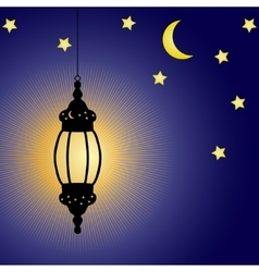 Ramadan kareem celebration lamp vector