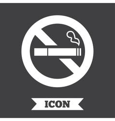 No smoking sign icon cigarette symbol vector