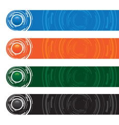 abstract button banners vector image vector image