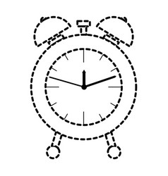alarm clock dotted silhouette on white background vector image vector image