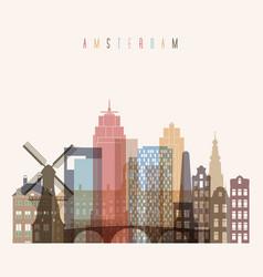 amsterdam skyline vector image