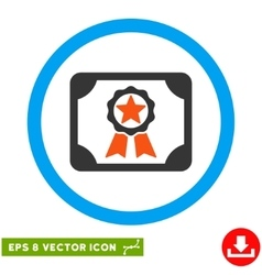 Award Diploma Eps Rounded Icon vector image